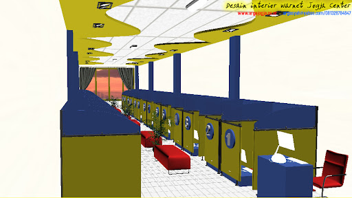 Desain Interior Warnet Jogja Center