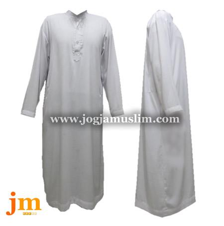 Jual Murah Pakaian Muslim Jubah Putih Halus