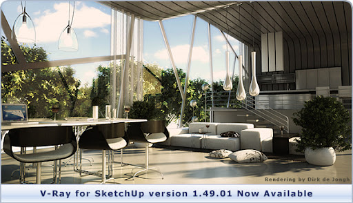 V-Ray for SketchUp version 1.49.01 with SketchUp 8 Support Now Available