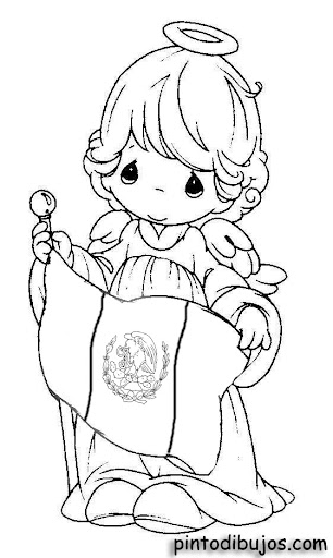 Independence angel – Precious Moments coloring pages
