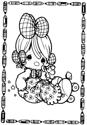 Sad girl – precious moments coloring pages