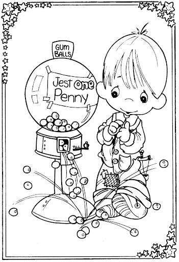 Child in candy store  coloring pages