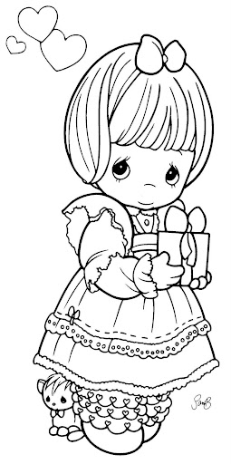girl inlove  coloring pages