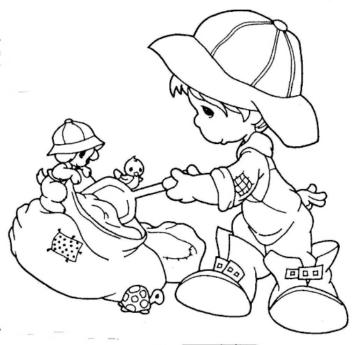 Farmer precious moments coloring pages