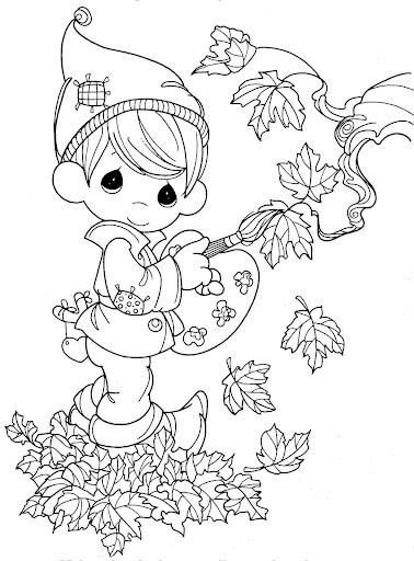 Fall, autumn coloring pages