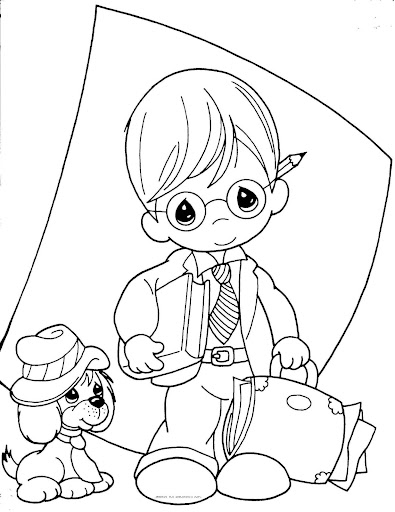 Teacher, precious moments coloring pages
