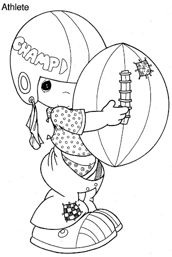 Boy playing football, coloring pages