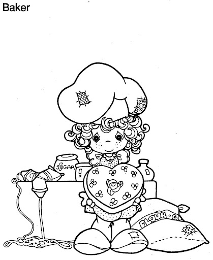 Baker precious moments, coloring pages