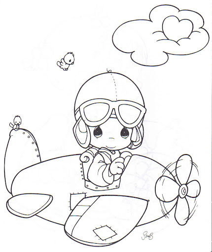 airplane pilot, coloring pages