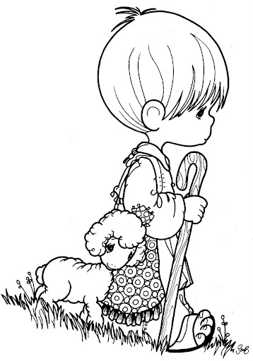 Shepherd precious moments coloring pages
