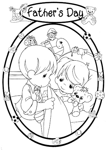 Father's day coloring pages precious moments
