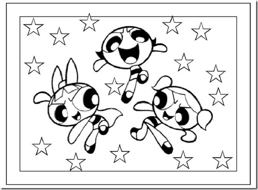 The powerpuff girls coloring pages