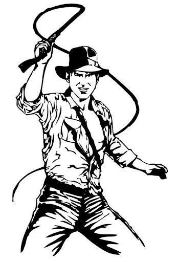 Indiana Jones para colorear