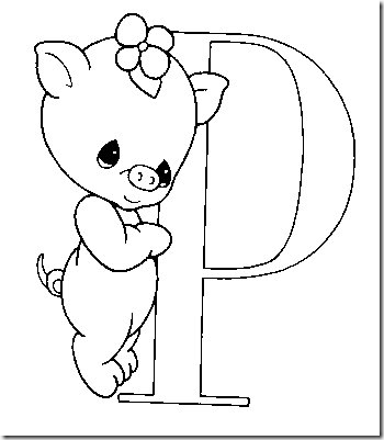 Alphabet Precious Moments Coloring