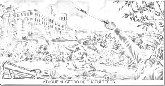 Niños héroes – 13 de septiembre – dibujo para colorear