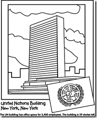United Nations Day – coloring pages