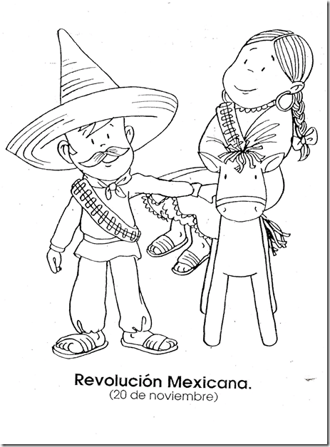Mexican revolution - November 20- coloring page