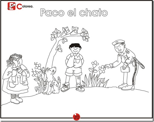 Paco el chato, free coloring pages