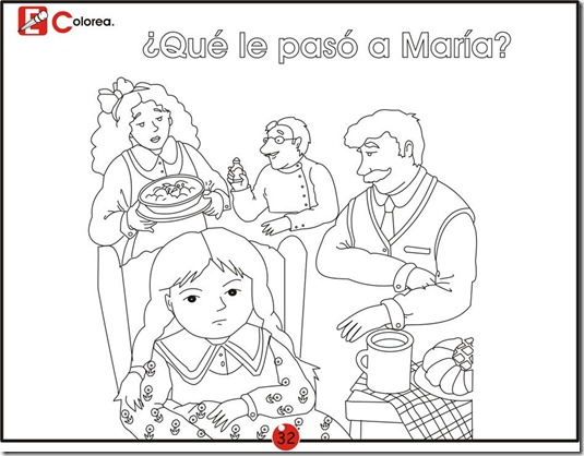 ¿What happen to Maria? free coloring pages