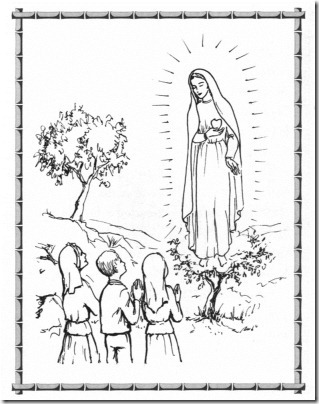 Our Lady Fatima Coloring Page As Well As Worksheets For Kindergarten ...