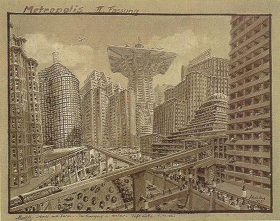 از نمونه طرحهای اریخ کتلهوت برای متروپولیس