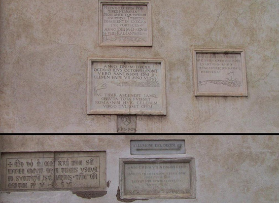 Rome Flood Markers