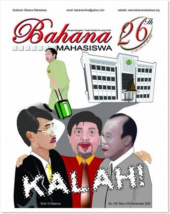 Cover Bahana Mahasiswa, Surat Kabar Kampus Universitas Riau edisi