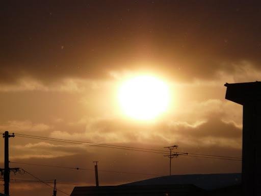 北竜町から見た太陽