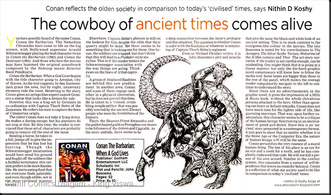 Indian Express Zeitgeist Page 3 Dated 24-01-2009 Conan Article