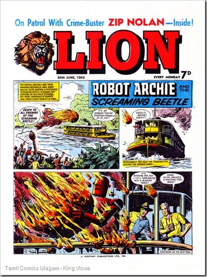 Lion 26 June 1965 (01) Front Page Robot Archie