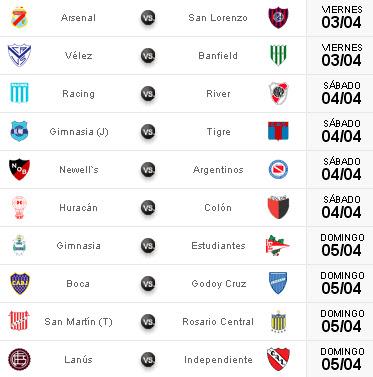 Fecha 8 torneo clausura argentino