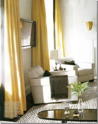 Steve Gambrel Clarence House Silk elle decor nov 07