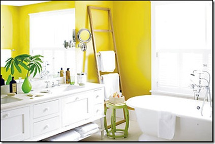 Benjamin Moore's St. Elmo's fire yellow has a hint of green via Washington Post Sept 11