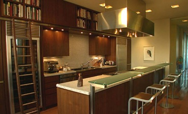 Bookshelves in Kitchens Cecconi Simone