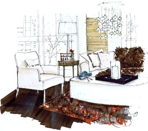 Patricia Gray living room by Michelle Morelan