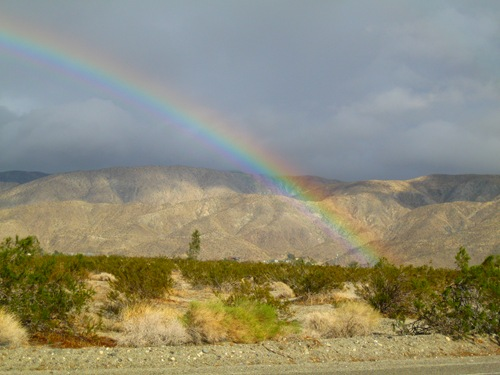 Rainbow over the Little San Bernardino Mountains Palm Springs 