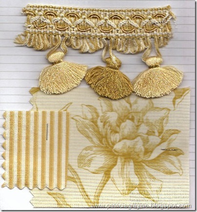 Interior Design Sketches Fabric &amp; Trim  