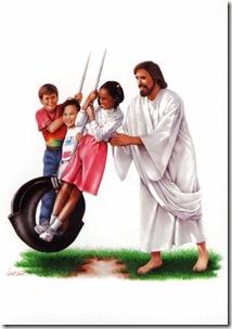 Jesus jugando
