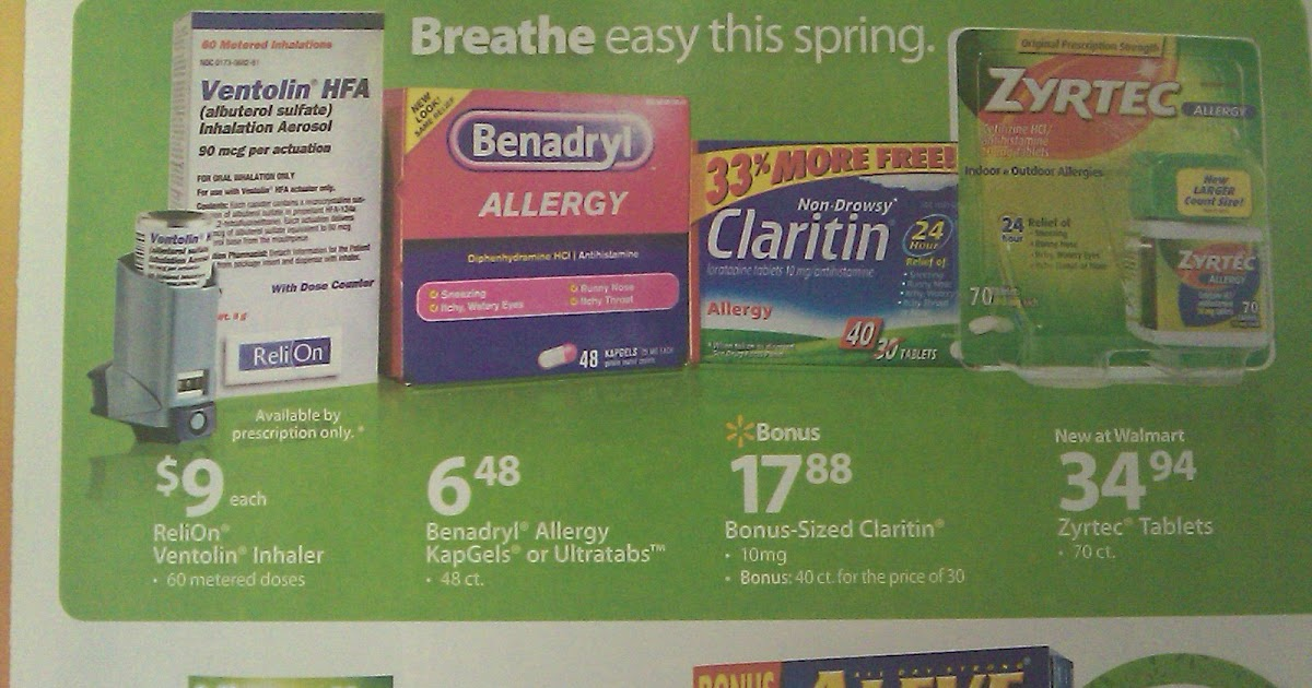 Allergy Notes Walmart S Suggestion For Allergy Treatments