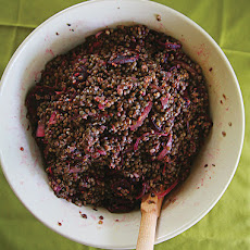 Lentil and Beet Salad with Lavender-Mustard Vinaigrette