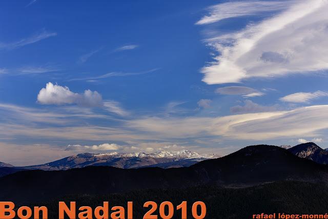 El Puigmal. Vista des del mirador del Turó Galliner de la serra de Cadí. Parc Natural del Cadí-Moixeró.Alàs i Cerc, Alt Urgell, Lleida