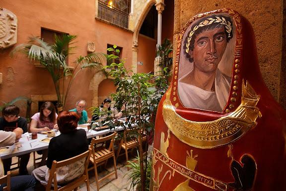 Els retrats d'El-Fayum, Taller de pintura romana. MV arte. Tàrraco Viva, el festival romà de Tarragona. Tarragona, Tarragonès, Tarragona