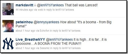 twitter responses for berkman home run call