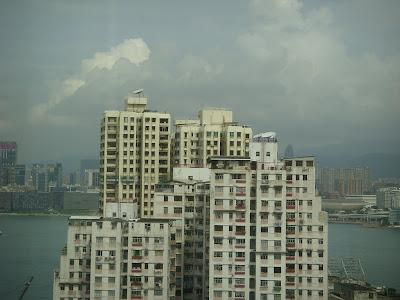 香港の高層アパート
