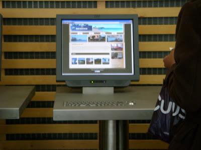 オスロ空港のインターネット端末