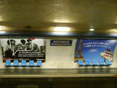 レオミュール=セバストポル駅のホーム