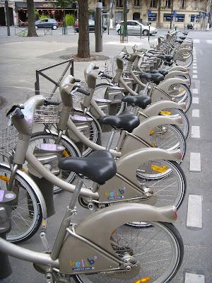 ベリブのレンタル用自転車