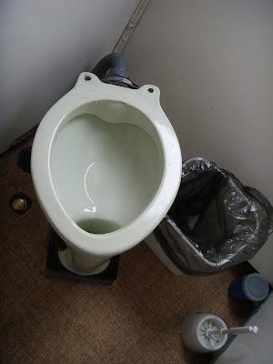 バイカル湖の水中翼船のトイレ