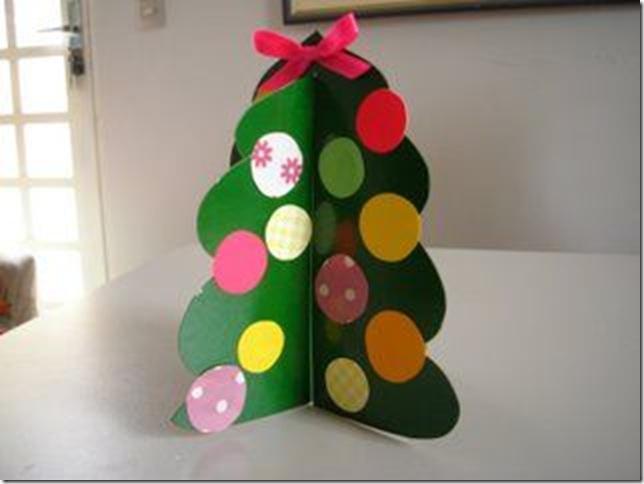 Manualidad de navidad para ni os rbol y ngel navidad - Arbol de navidad para ninos ...