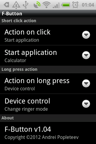 F-Button for HTC ChaCha